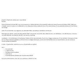 Recrutement médical Chirurgien-dentiste - Annonce médicale gratuite de reprise de cabinet - Fontenay-le-Comte, Vendée